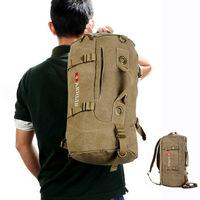 2015 Men's Multi-purpose tactical Backpack Vintage Shoulder Bag Canvas bagpack sport  Rucksack Schoolbag outdoor Travel Satchel
