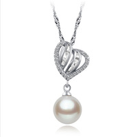 Free shipping! retail Stylish design 925 silver pendant with zirconia for woman heart shape pendant DZ--BHZY0702