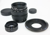 35mm f/1.7 CCTV Lens for Sony nex3 nex5 + C Mount to NEX adapter + Macro Ring