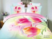 popular Fresh lily style,3d bed linen bedding set 4pcs cotton queen size,comforter set /duvet cover/ bedclothes/bed line/pillow