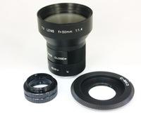 CCTV Lens 50mm f/1.4 TV + C Mount Adapter + Micro 4/3 M4/3 M43 Macro Ring New LF80