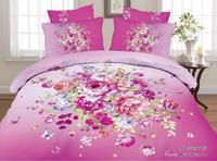 hot,colorful peony style,3d bed linen bedding set 4pcs cotton queen size,comforter set /duvet cover/ bedclothes/bed line/pillow