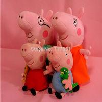 4pcs/lot  Peppa Pig Family Plush Doll Stuffed Toy 30cm DADDY MUMMY 19cm Peppa GEORGE