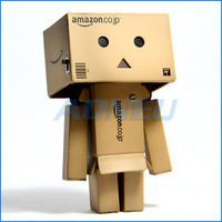 2014 New Year Gift Cartoon Toy Lovely Danboard Mini PVC Action Figure Toys Danbo Doll with LED Light 6 Style 8cm Free Shipping