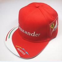 2014 F1 RacingTeamline Cap red color racing fan six panelled flat brim cap adjustable Alonso Driver Cap cotton top quality