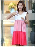Breastfeeding Nursing Wear a skirt out of fashion summer dress lactating breast feeding dress shirt thin summer dress breastfeed