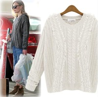 sweaters 2014 women fashion pullovers cardigans sweater European style authentic loose tricotado Personality crochet knit