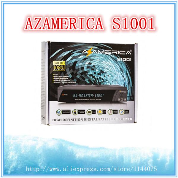 Azamerica s1001 HD satellite receiver digital USB PVR support IKS/SKS open nagra3 for south america receptor azamerica s1001 hd(China (Mainland))