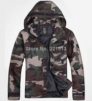 2014 New Famous Brand Military Jacket Men Outdoor Waterproof Hooded Jacket Sportswear Camouflage Sports Coat Skateboarders