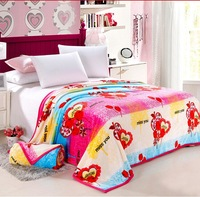 Free shipping! Thick blanket blanket coral fleece blanket single / double black velvet sheets blanket 200*230 love rose