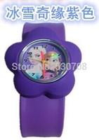 Hot selling free shipping 100pcs/lot Frozen cartoon slap watch,children watch, best gift for kids