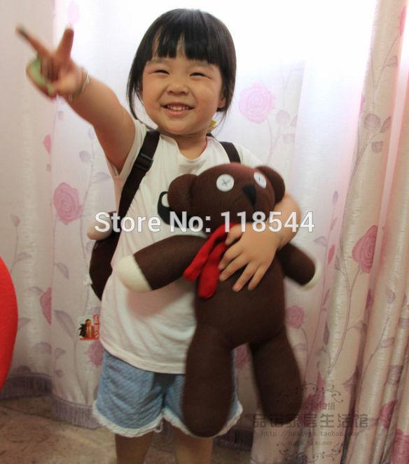 45cm Cute Mr. Bean Teddy Bear Toy Soft Doll Mini Teddy Bear Doll one lot free shipping(China (Mainland))