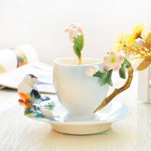 Free shipping Hot!!! Creative fashion peacock porcelain coffee set, cups, plates