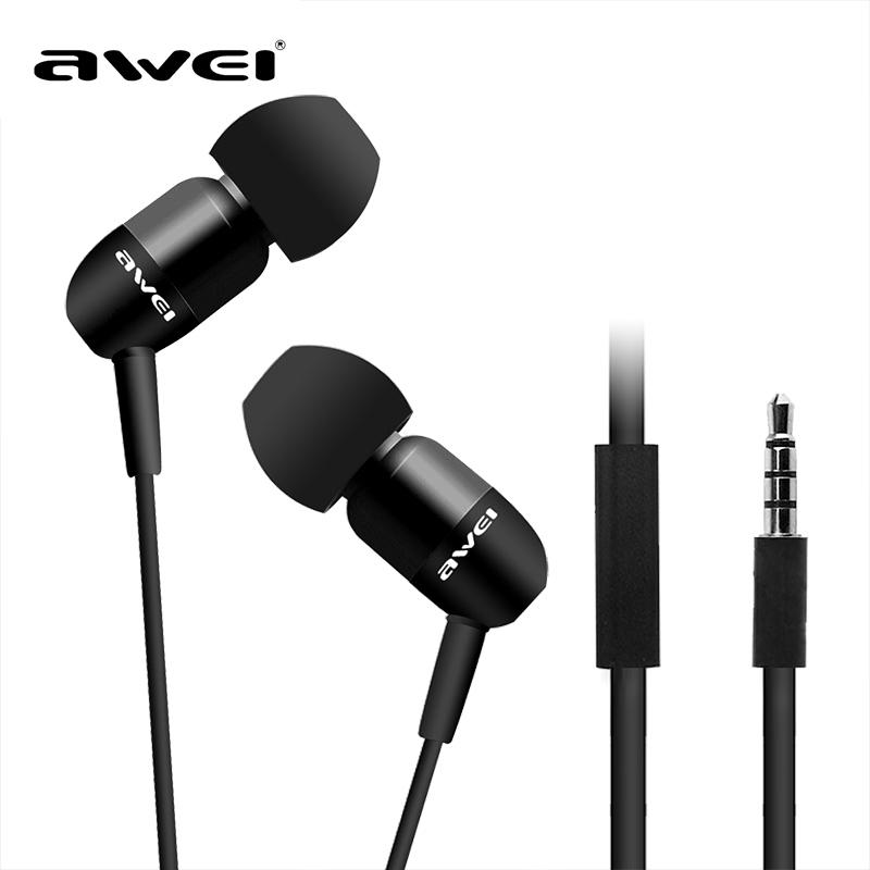 """"""" Super Best Awei DJ Headphone ESQ8i In-Ear Pioneira Estúdio fone de ouvido para Iphone HTC Samsung Xiaomi , Clear Bass com Headset Mic(China (Mainland))"""