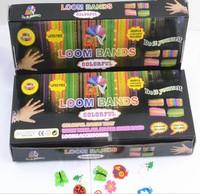 Rubber Loom Bands Refills DIY Rubber Bands Bracelet Plastic Box Set (600pcs Bands + 24pcs S Clips+1 hook )