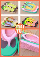 free ship 160 pair cartoon fruits lovers beach sandals shoes lady home anti-slip flip flops woman creative slippers