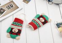 2014 new children's winter gloves, plush baby boys and girls winter warm wool knit gloves