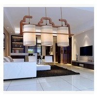 Free shipping+Modern chinese style brief pendant light classical dining room lamp restaurant lights hall pendant light , wood