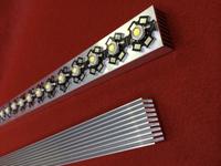 30cm High Power LED Heatsink Grille shape 300mm*25mm*12mm Good heat dissipation aluminum