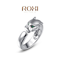 2014 new ROXI fashion brand rose gold silver -plated leopard Rings,women vintage jewelry bijouterie ring free shipping