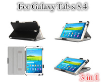 Resale Tab S 8.4 Heat Setting Leather Case For samsung galaxy tab s 8.4 T700 stand cover +screen protectors