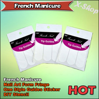 X-SHOP French Manicure Nail Art Form Fringe One Style Guides Sticker DIY Stencil
