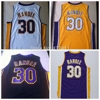 New Arrival !!! Julius Randle #30 White Yellow REV 30 Basketball Jersey, Size: S-XXL, Free Shipping