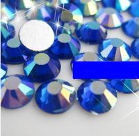 size(3;4;5;6;8;10;12;16;20;30) nail rhinestone Non Hotfix Rhinestones Flat back Crystal Sapphire blue AB 3D Nail Art Decorations
