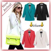 New 2014 blazer women Casual basic jackets women Cardigan suit blazer Flower Print jackets ladies clothing casacos femininos
