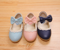 New Arrivals Baby Girls Shoes Autumn princess leather Shoes Lace bow Children Flats Girls Kids shoes Euro size 21-33