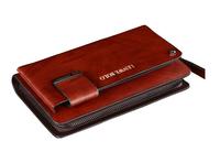 Mens PU Leather Clutch Wristlet Bag Handbag Organizer Wallet Checkbook Business Fashion Purse Man Wood Grain