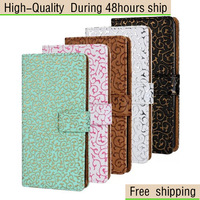 High Quality Palace Flower Pattern Flip Leather Wallet Case For iPhone 5 5G 5S Free Shipping UPS DHL CPAM HKPAM