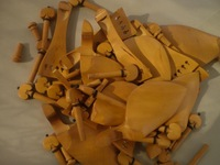 8 PCs Boxwood Violin Pegs with 2 pcs end pin 4/4