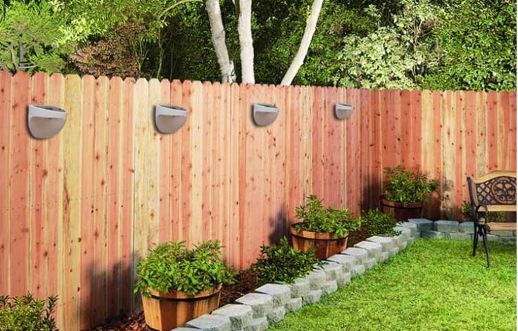 Backyard Lights On Fence :  Outdoor solar lamp led solar lights Diamond Yard light aus