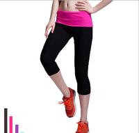 Women Tight Sports pants Jogging pants comfortable Yoga Capris Beauty leg slimming shaper pants high waist  sports dancing pant