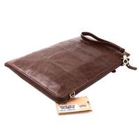 2014 Vintage Style Genuine Leather Large Clutch Bag For Men Envelope Bags Wristlets Business Briefcase Shoulder Messenger Bags