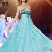 Li colorful colorful stones evening dress dress temperament name love evening 2014 Amoi Europe dress