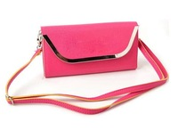 2014 Fashion Women's Leather Leisure  Handbag&shoudler Bag Candy Colors Casual Handbag Purse and Wallet Bag