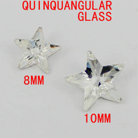 Quinquangular shape crystal stones glass beads luxury stones crystal color great for scrap booking diy home decoration