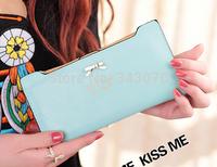 2014 new hot bow Ms. Long women wallet girl card lady purse Drop free shipping