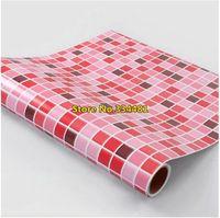 Free shipping 50*200cm Mosaic wallpaper oil paste bathroom waterproof wallpaper waistline P-082 Home decoration