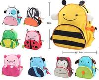 Children School Bag for boys and girls Cartoon Animal Canvas Backpack Kids Shoulder Kindergarten Schoolbag wholesale