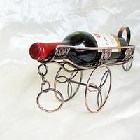Wrought iron wine rack wine rack wine cup holder creative retro four Continental Iron Wine Rack Series