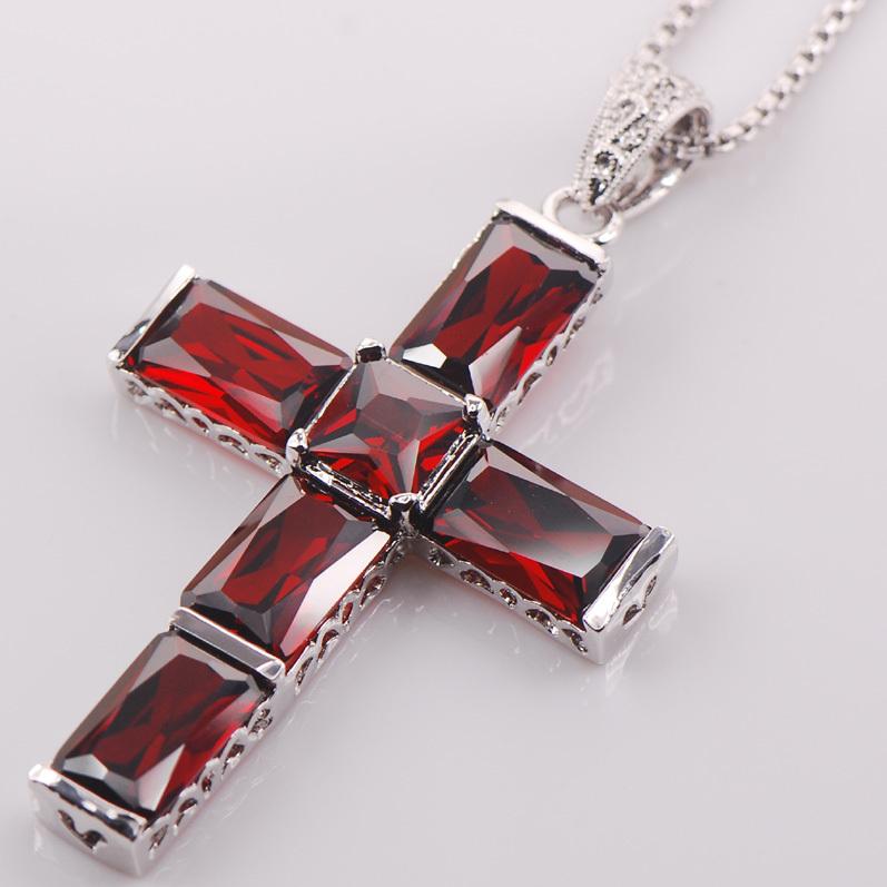 Cross Garnet 925 Sterling Silver Fashion Jewelry Pendant TE428(China (Mainland))
