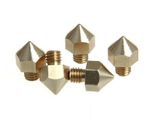 Extrusion Head Hotend M6 Nozzle 0.2mm/0.3mm/0.4mm For Ultimaker 3D Printer 3.0MM Filament 100pcs DHL/FEDEX free shippment