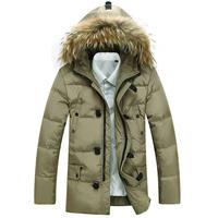 2014 Autumn and Winter male plus size down jacket,men's brand white duck down snow wear coat,outdoor jacket,outwear sport jacket