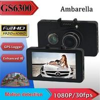 "Free shipping GS6300 HD 1080P 3.0"" TFT Car Vehicle DVR Camera Video Recorder GPS Night Vision"