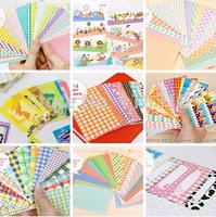 Wholesale,(1 Lot =9 Sets=180 Sheets) DIY Scrapbooking Paper Photos frame Decorative Stickers Vintage Wedding Album Sticker