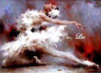handpainted impressionist figure oil painting on canvas ballet dance girl  Ballet1002 50x70cm
