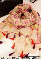 Sun flower scarf Pashmina Shawls scarves scarves wholesale Thailand tour for J30
